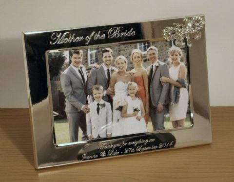 Crystal Butterfly Photo Frame Personalised Mother of the Bride Gift (ls)